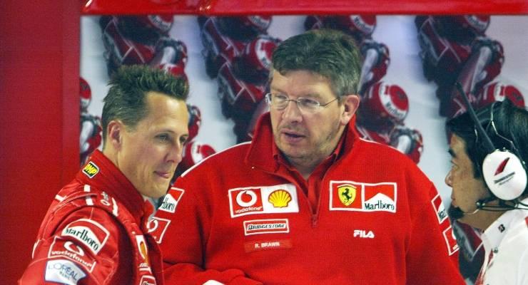 Ross Brawn e Michael Schumacher ai tempi della Ferrari