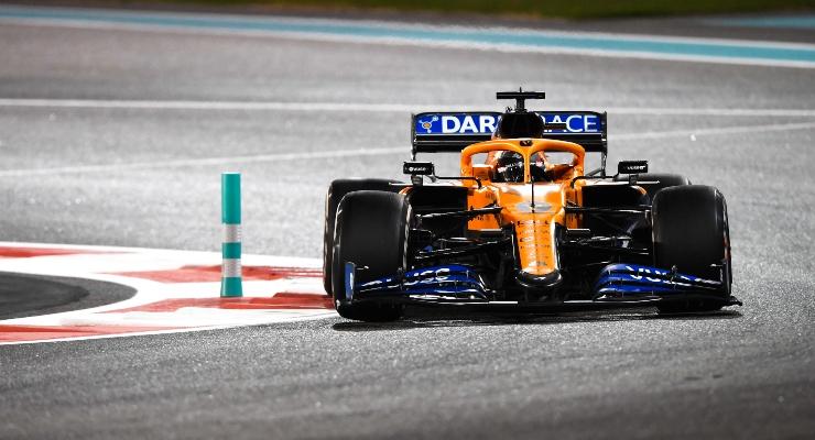 Carlos Sainz in pista con la McLaren (Getty Images)
