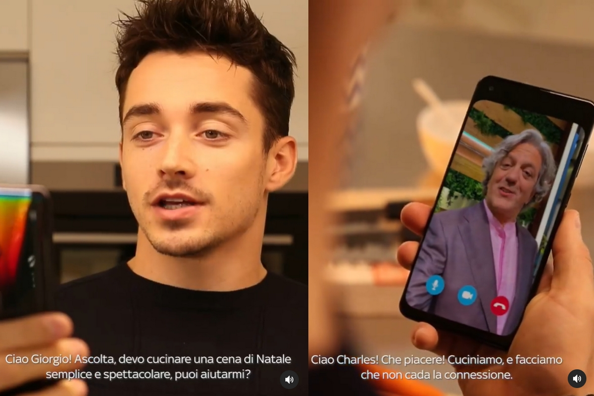 Charles Leclerc e chef Giorgio Locatelli (Instagram)