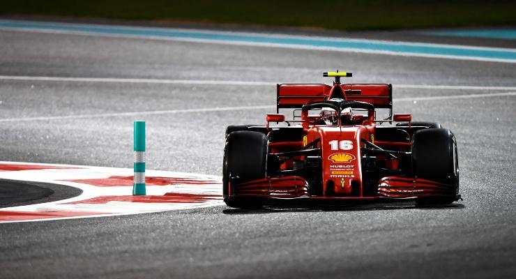 Charles Leclerc in pista con la Ferrari (Getty Images)