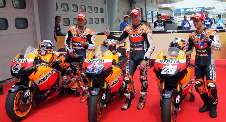 Dovizioso, Stoner e Pedrosa in Honda (Getty Images)