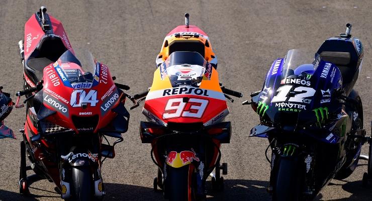 Ducati, Honda e Yamaha (Getty Images)