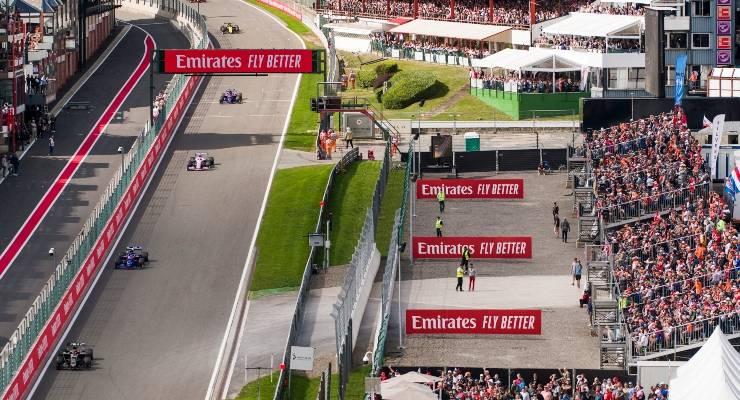 Una fase di gara del Gran Premio del Belgio di Formula 1 a Spa-Francorchamps