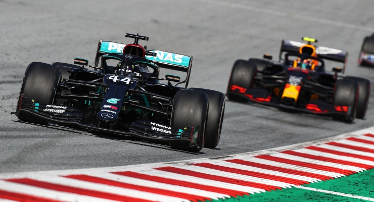 Lewis Hamilton e Albon (Getty Images)