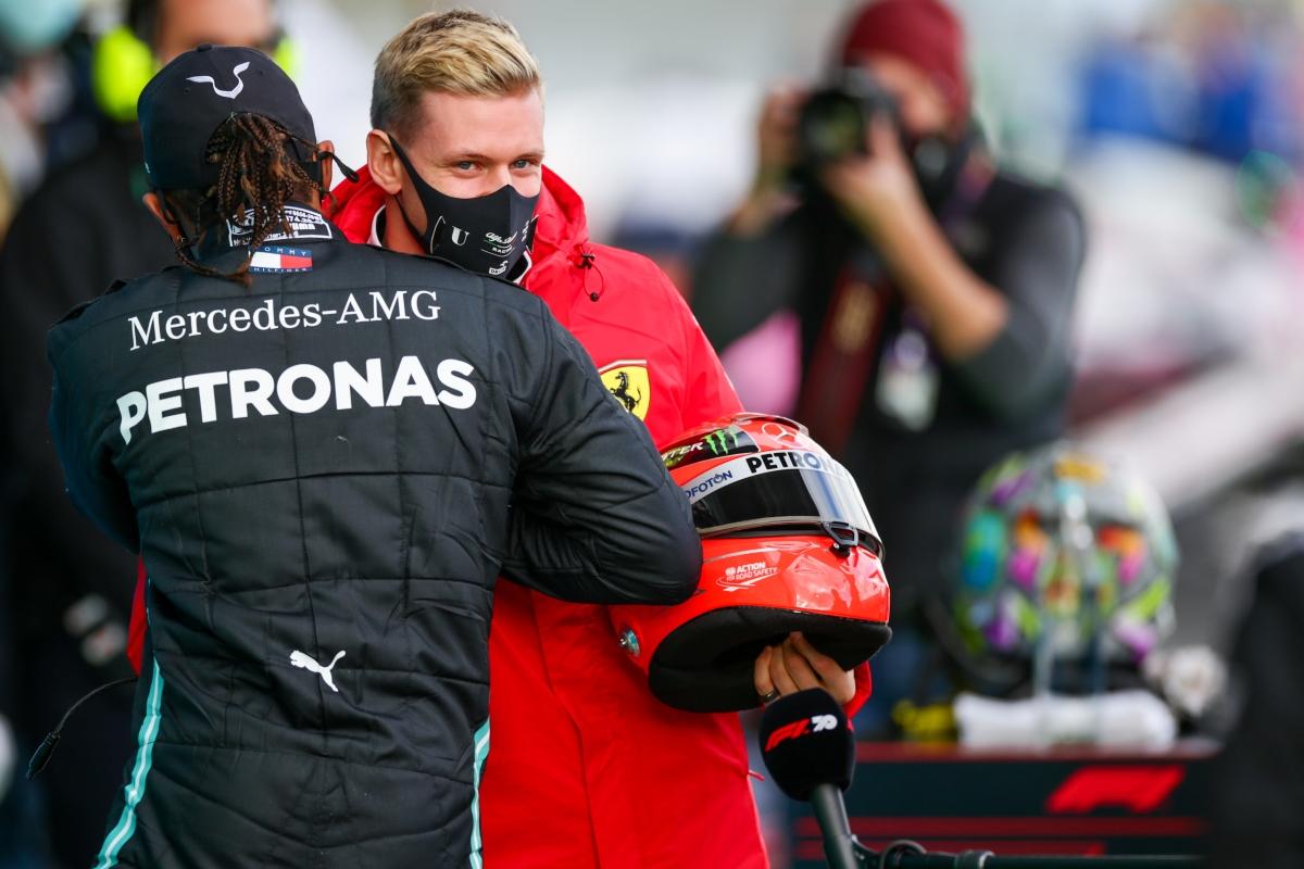 Lewis Hamilton e Mick Schumacher (Getty Images)