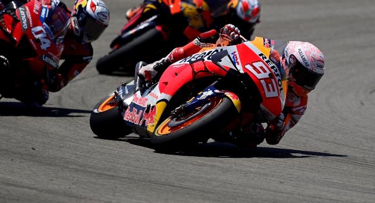 Marc Marquez in pista con la Honda (Getty Images)