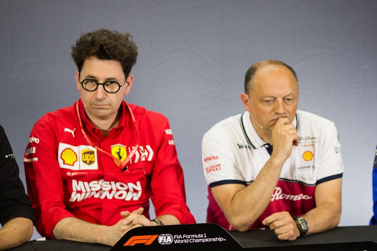 Mattia Binotto e Vasseur (Getty Images)