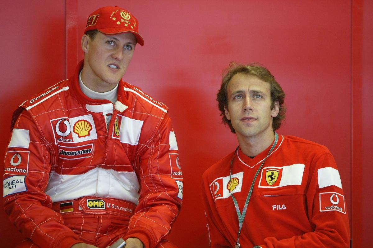 Michael Schumacher e Luca Badoer (Getty Images)