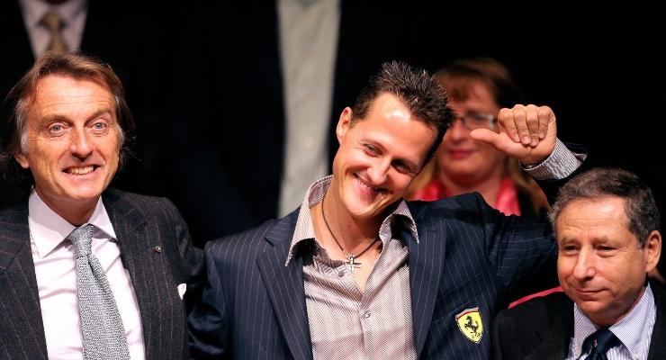 Montezemolo, Schumacher e Todt (Getty Images)