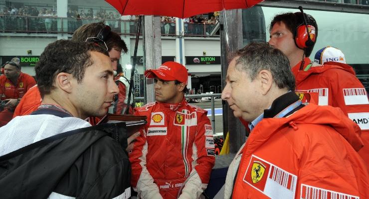 Nicolas Todt, Felipe Massa e Jean Todt (Getty Images)