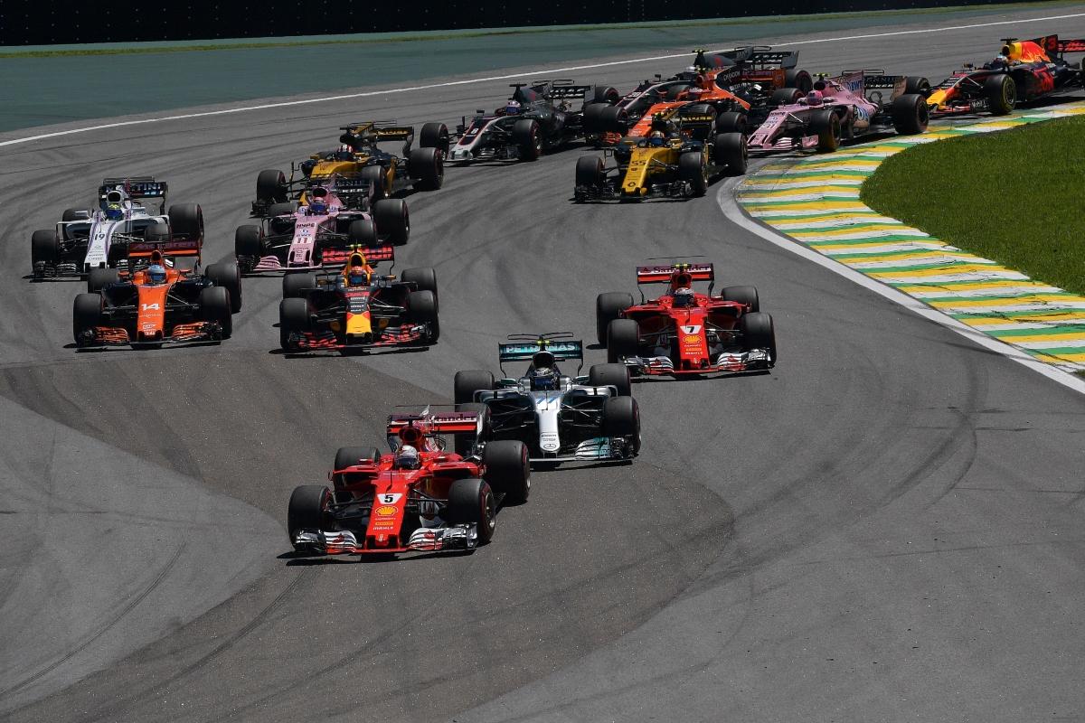 Partenza al Gran Premio del Brasile (Getty Images)
