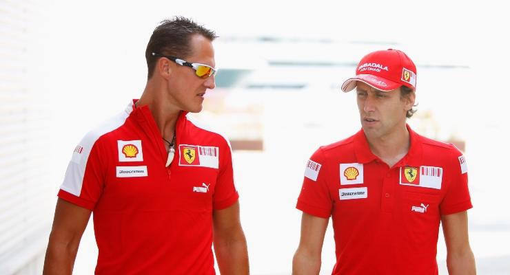 Schumacher e Badoer (Getty Images)