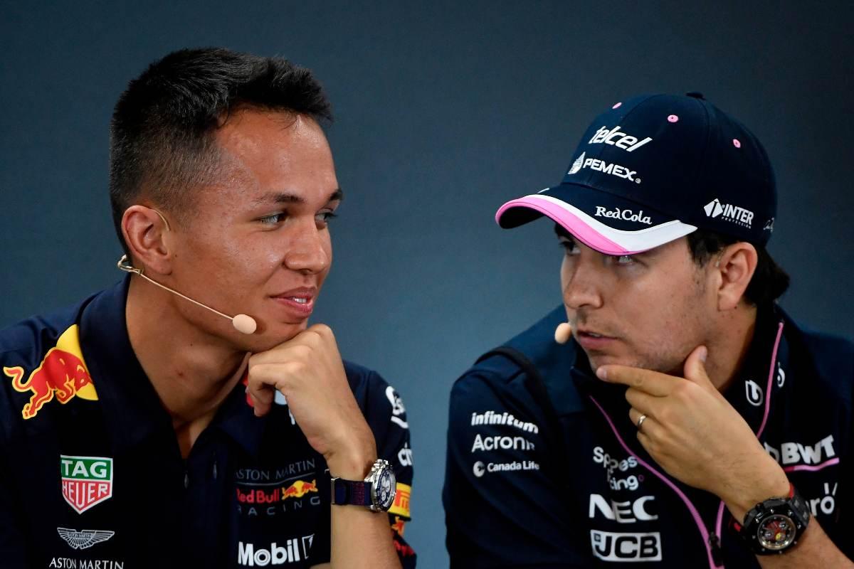 Alex Albon e Sergio Perez