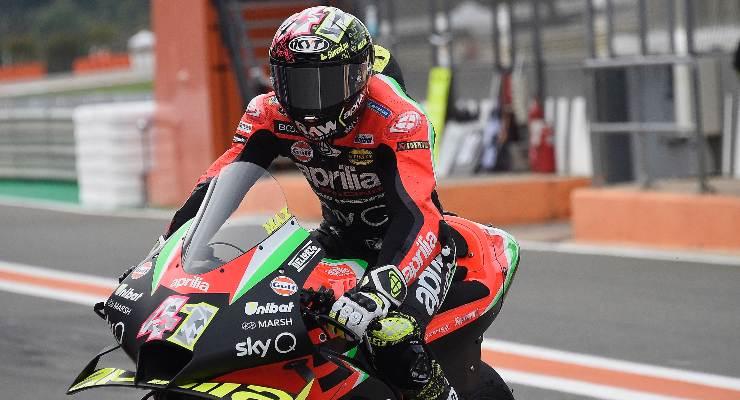 Aleix Espargaro sulla Aprilia al Gran Premio di Valencia di MotoGP 2020
