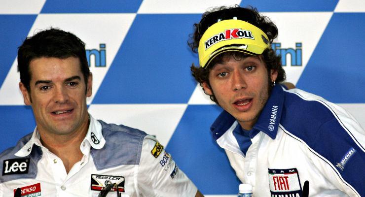 Carlos Checa e Valentino Rossi