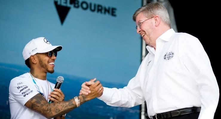 Lewis Hamilton e Ross Brawn