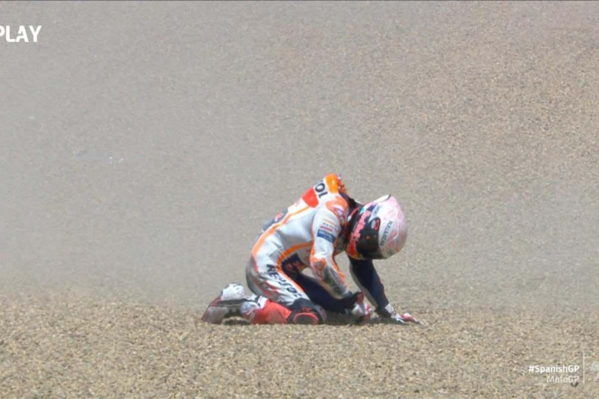 Marc Marquez, caduta a Jerez