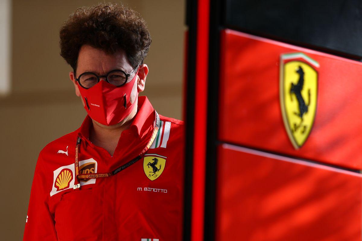 Il team principal della Ferrari, Mattia Binotto (Foto Mark Thompson/Getty Images)