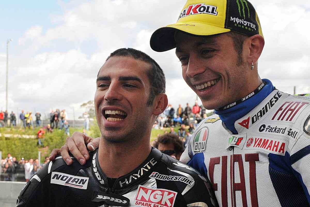 Marco Melandri e Valentino Rossi