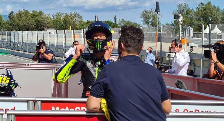 Alex Briggs con Valentino Rossi