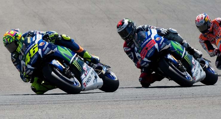 Jorge Lorenzo e Valentino Rossi ai tempi in cui correvano insieme alla Yamaha