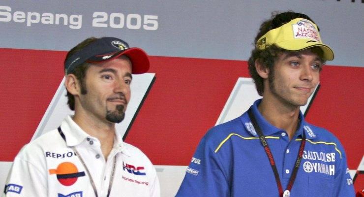 Valentino Rossi e Max Biaggi