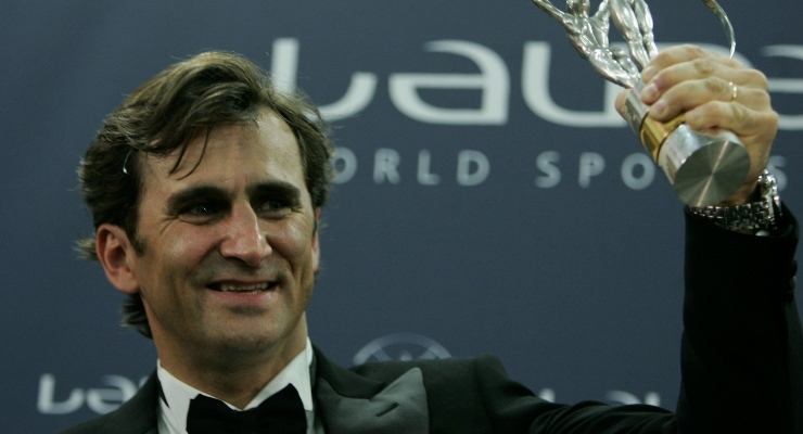 Alex Zanardi al premio Laureus (Getty Images)