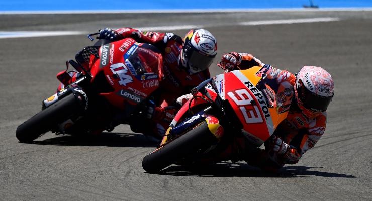 Andrea Dovizioso e Marc Marquez (Getty Images)