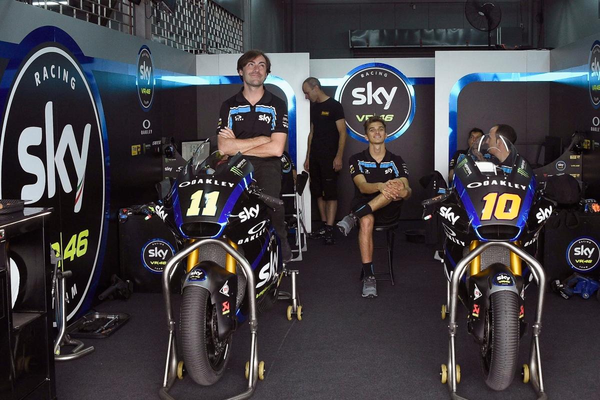 Box dello Sky Racing Team VR46 (Getty Images)