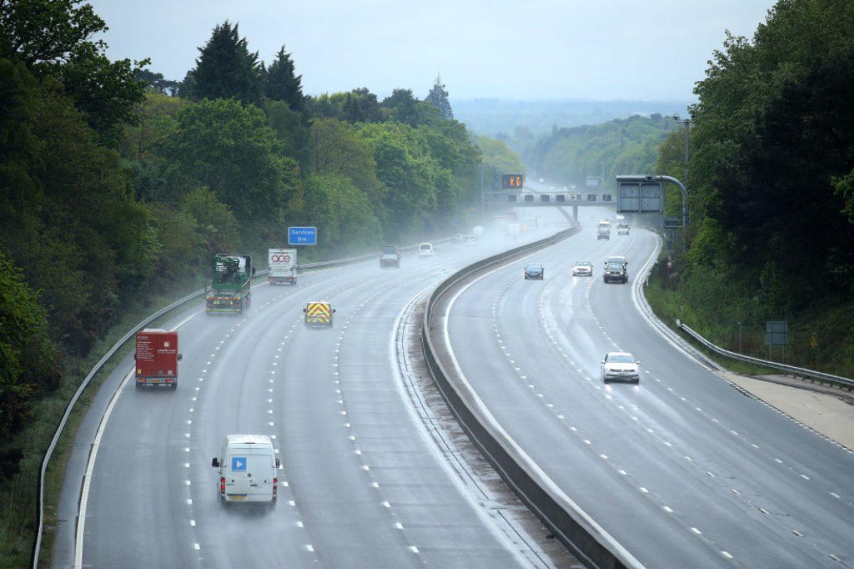 Pioggia in autostrada