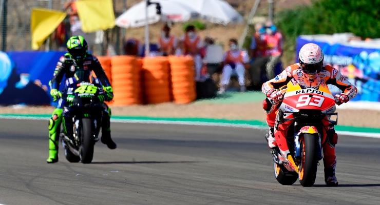 Marc Marquez e Valentino Rossi (Getty Images)