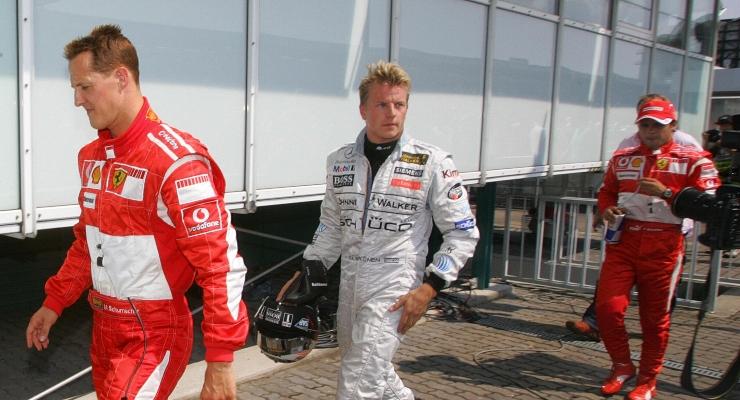 Schumacher, Raikkonen e Massa (Getty Images)