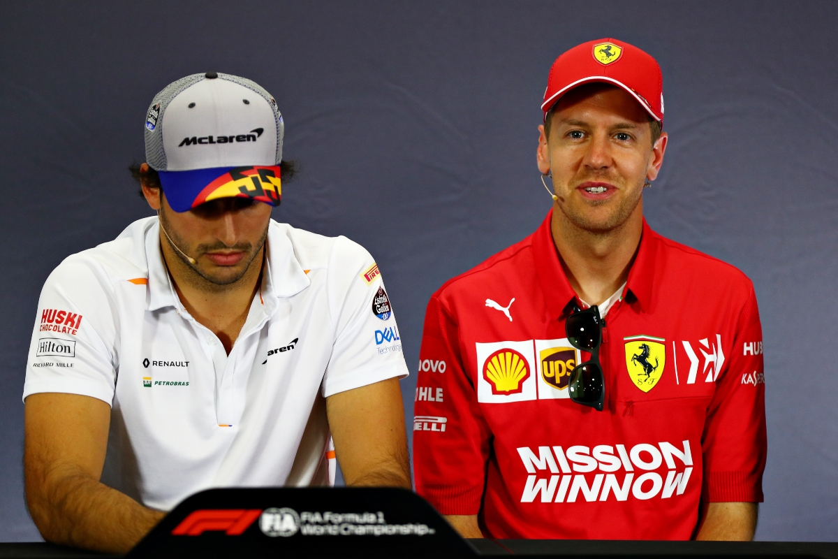 Sebastian Vettel e Carlos Sainz Jr. (Getty Images)