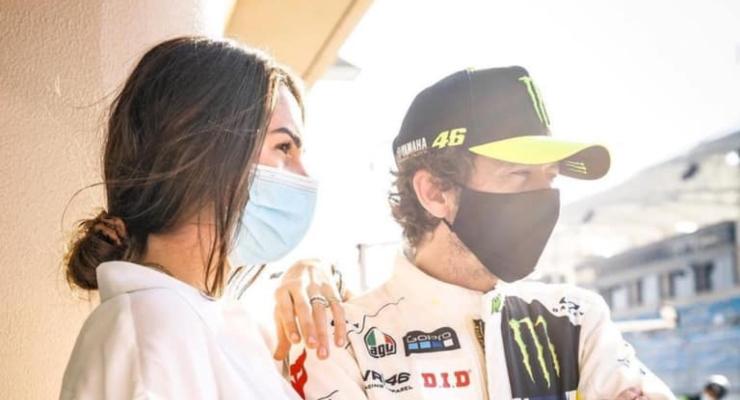 Valentino Rossi e Francesca Sofia Novello (Facebook)