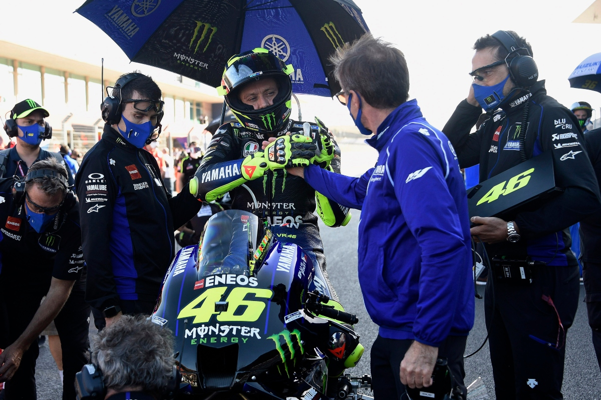 Valentino Rossi e Lin Jarvis (Getty Images)