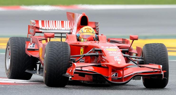 Valentino Rossi sulla Ferrari (Getty Images)