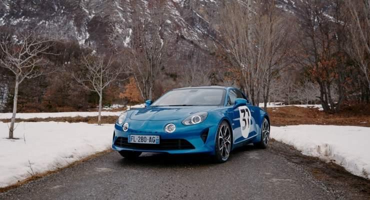 La Alpine A110S di Esteban Ocon al Rally di Montecarlo
