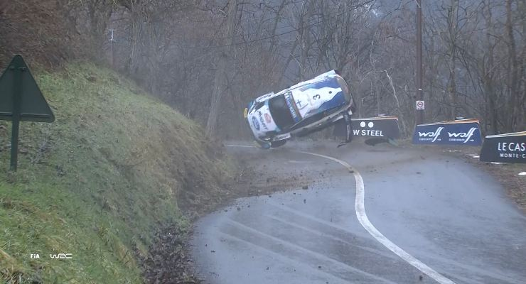 L'incidente della Ford Fiesta di Teemu Suninen al Rally di Montecarlo
