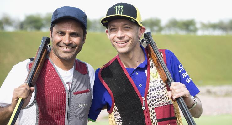 Nasser Al-Attiyah e Valentino Rossi