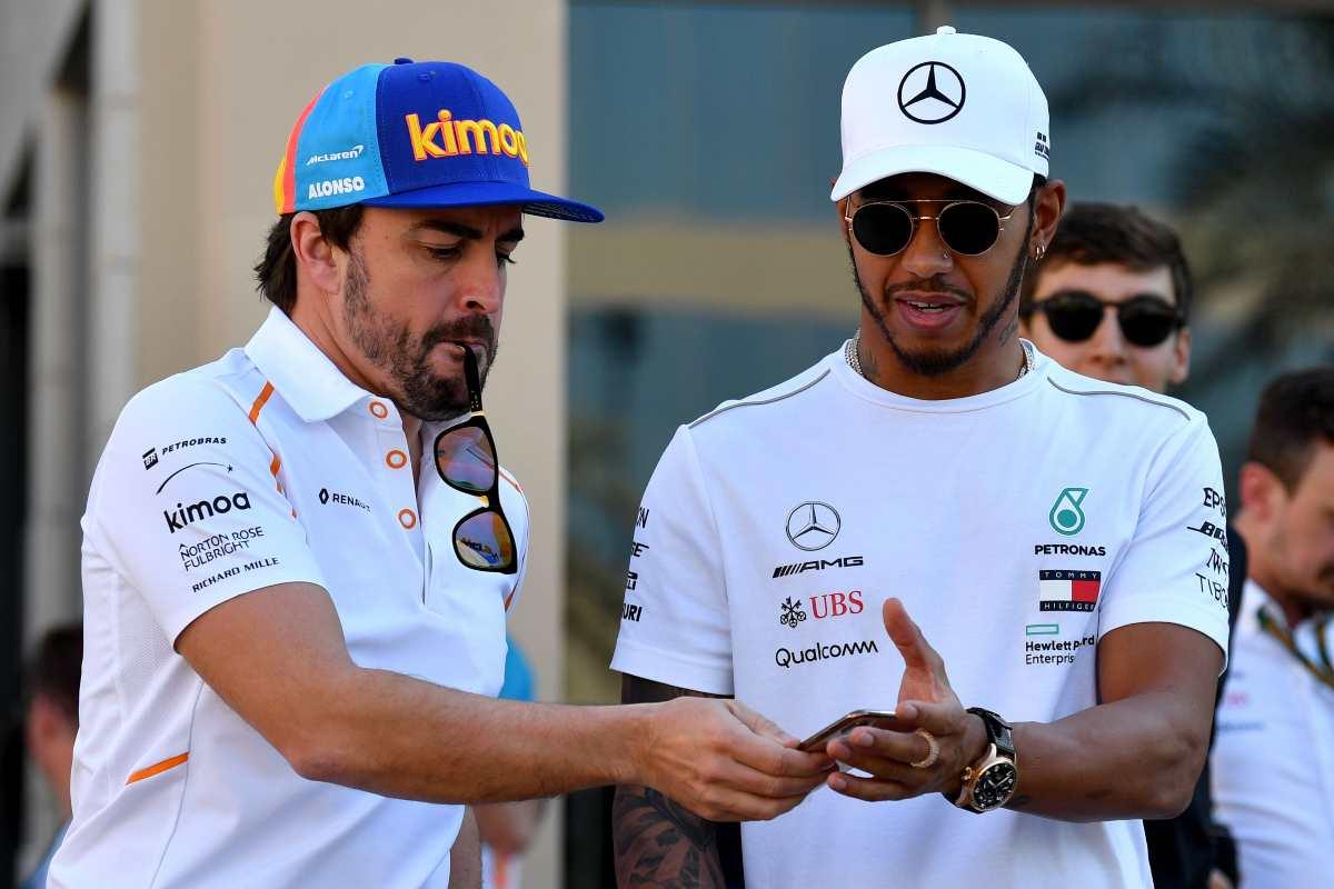 Fernando Alonso e Lewis Hamilton (Getty Images)