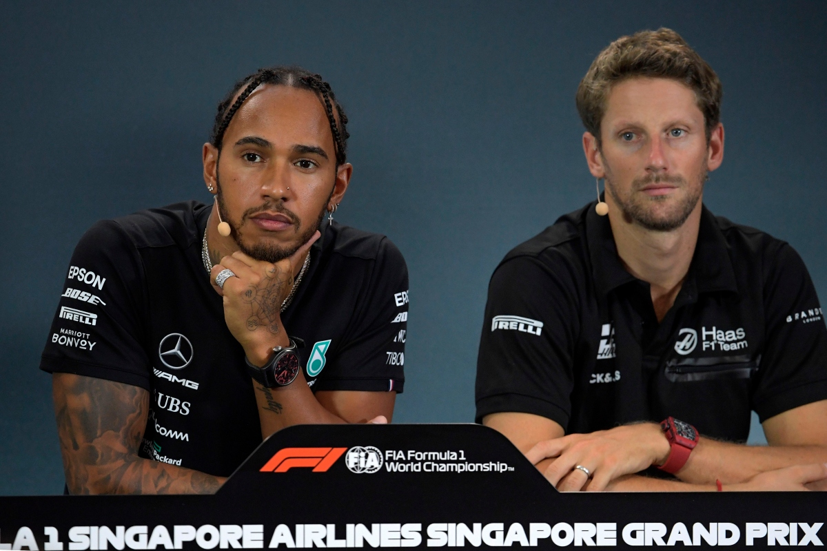 Lewis Hamilton e Romain Grosjean (Getty Images)