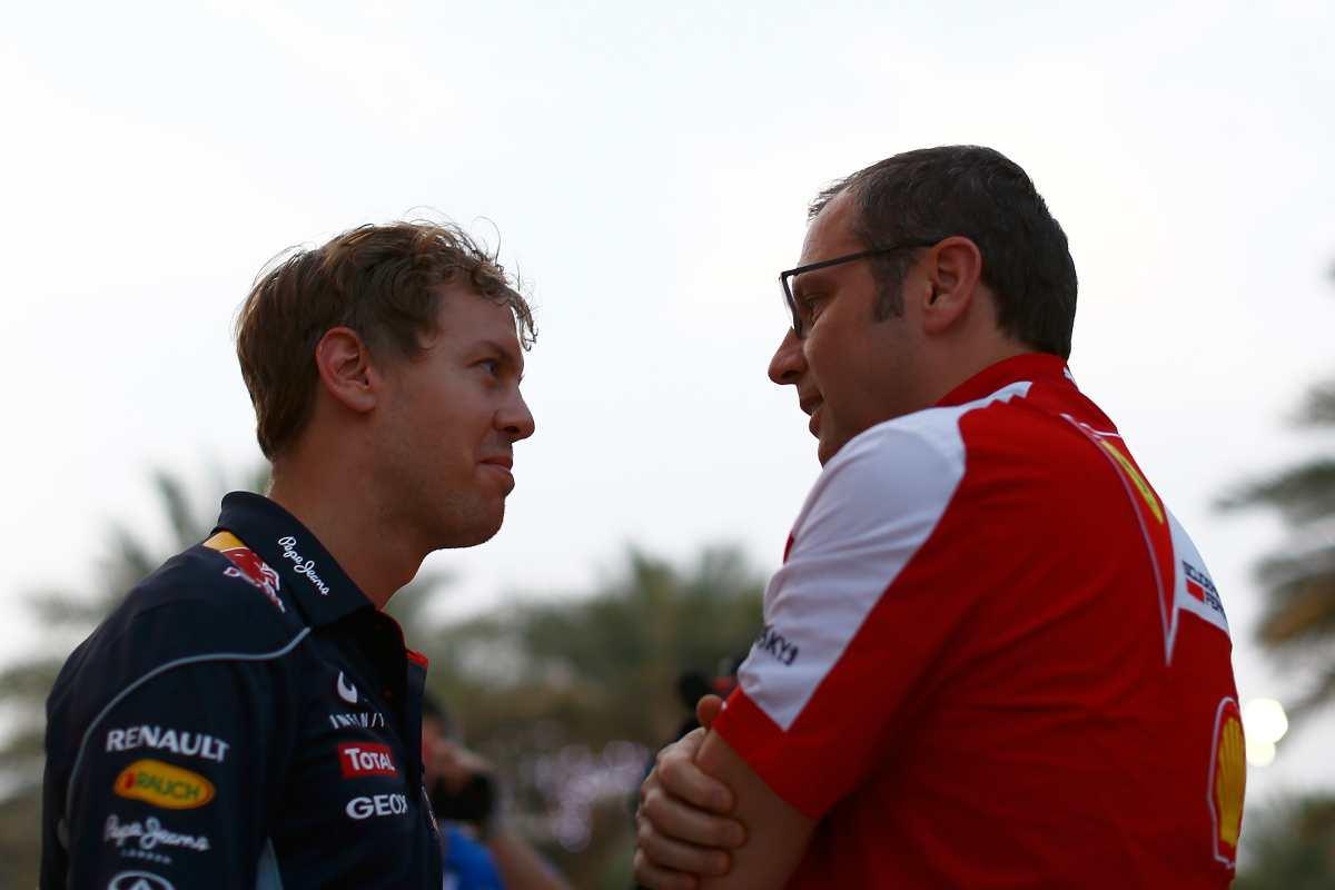 Sebastian Vettel e Stefano Domenicali (Getty Images)