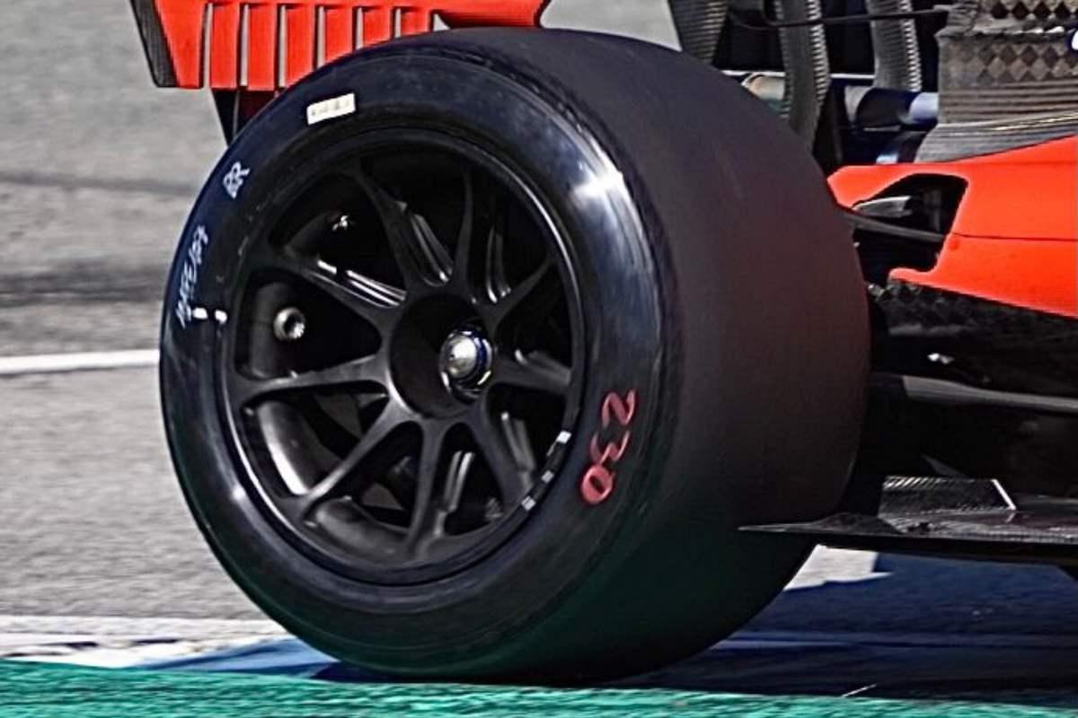 Le gomme da 18 pollici provate dalla Ferrari