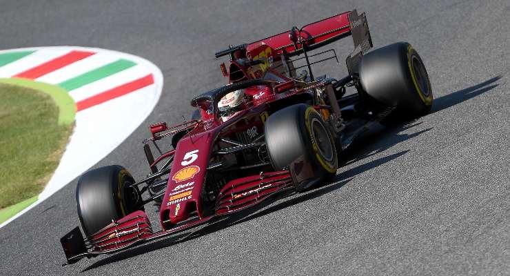 Il rosso scuro della livrea del Gran Premio del Mugello di F1 2020
