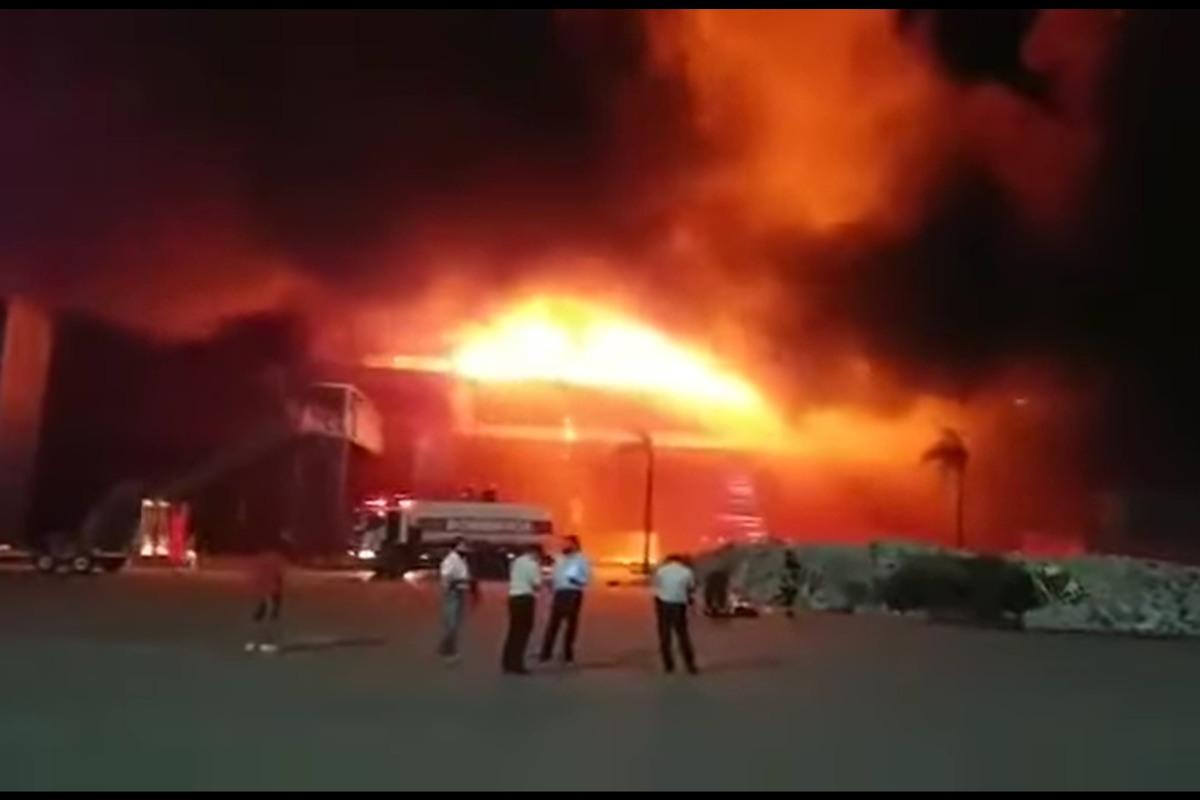 L'incendio alla pista di Termas de Rio Hondo