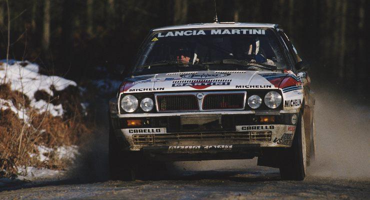 La Lancia Delta Integrale Martini con cui Markku Alen corse nel Mondiale Rally 1988