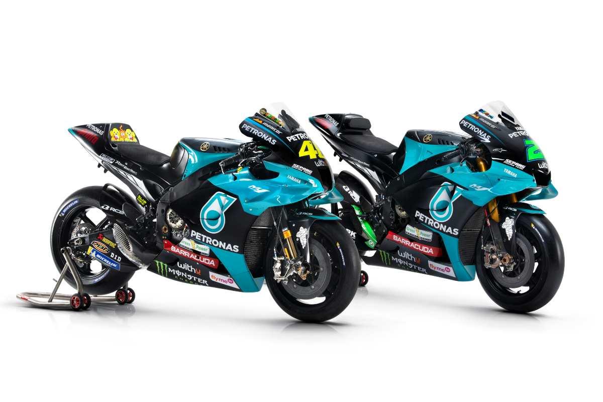 Le due Yamaha di Valentino Rossi e Franco Morbidelli