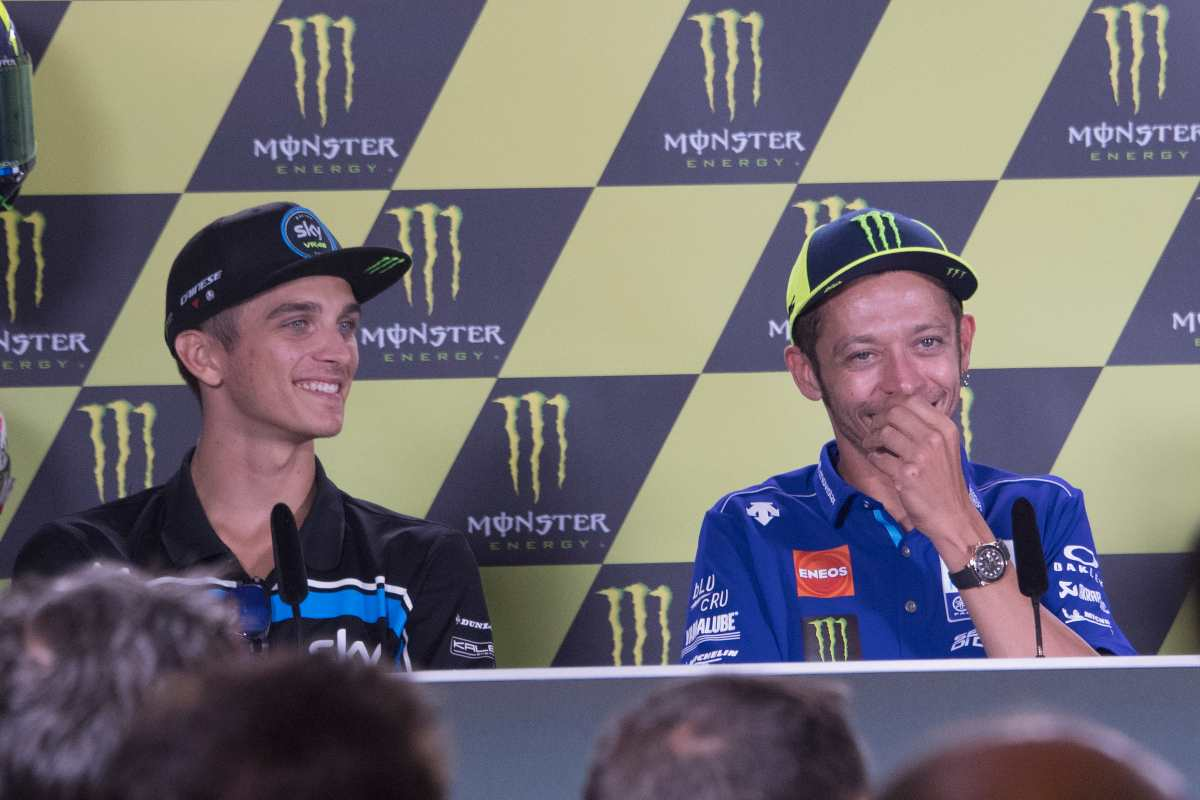 Luca Marini e Valentino Rossi (Getty Images)