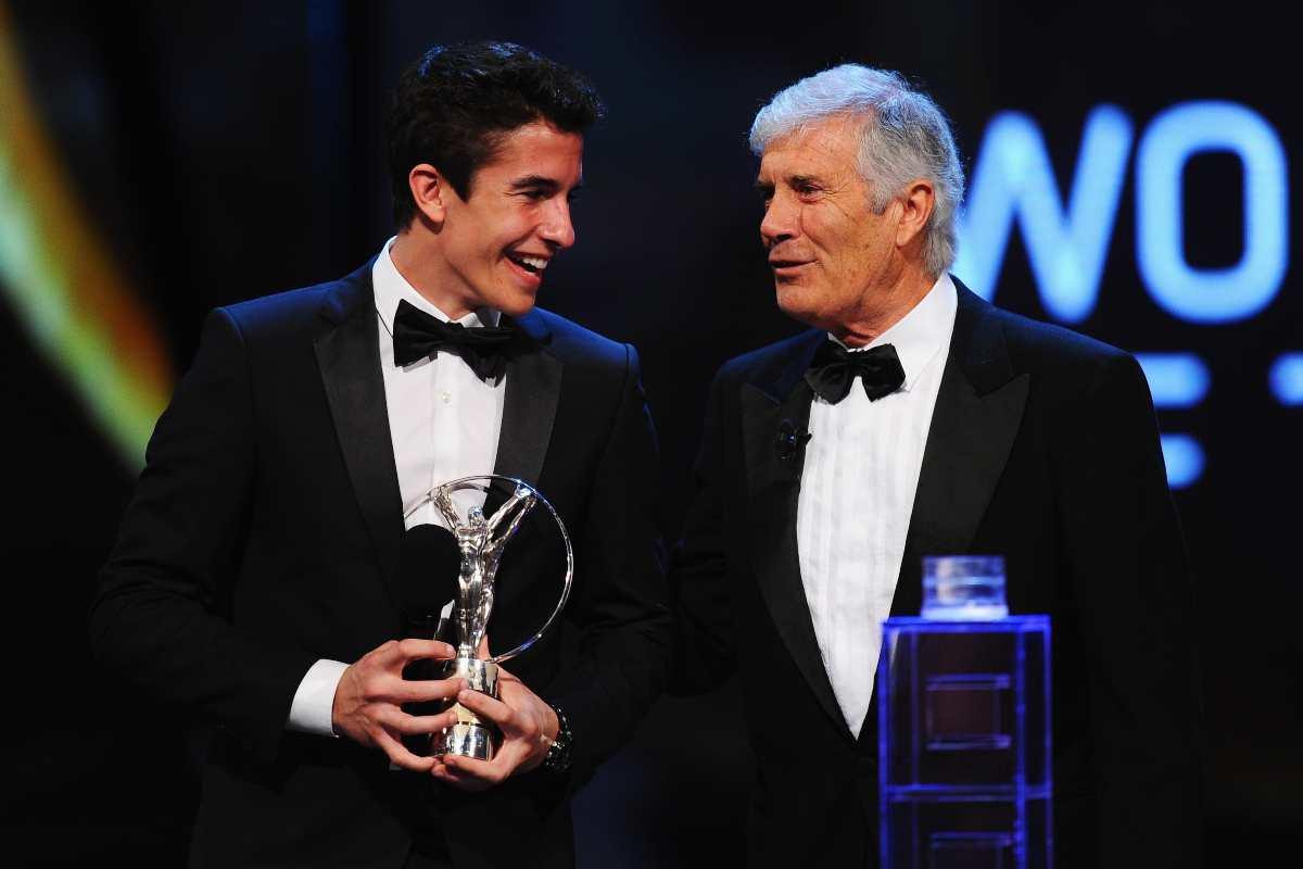 Marc Marquez e Giacomo Agostini (Getty Images)