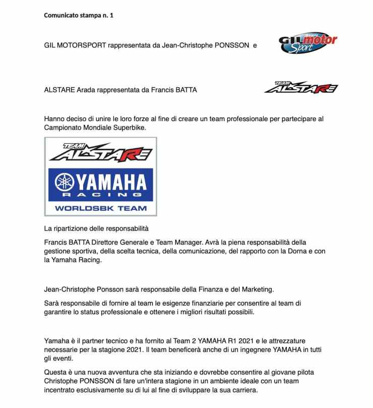 team alstare yamaha Superbike